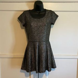 One Love Clothing Black and Gold Romper Small